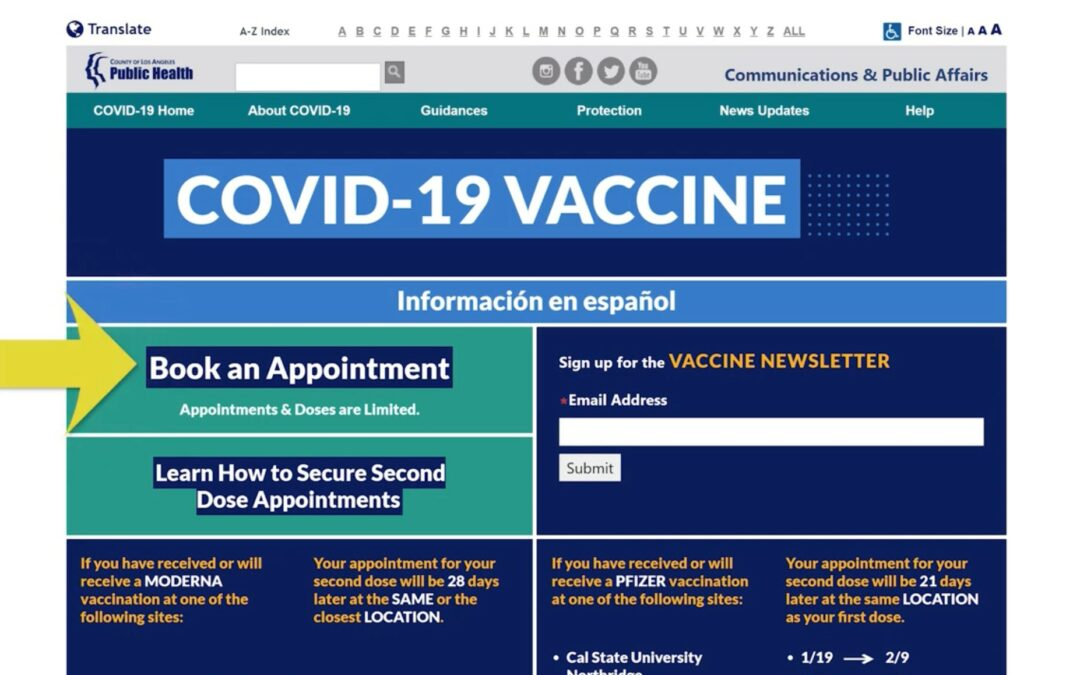 Booking Your Vaccine Appointment (English)